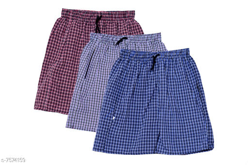 Boxers & Lounge Shorts Men Inner & Sleep Wear Boxers    *Fabric* Cotton  *Pattern* Printed  *Multipack* 3  *Sizes*   *XL (Waist Size* 34 - 36 in, Length Size  *S (Waist Size* 28 - 30  in, Length Size  *M (Waist Size* 30 - 32  in, Length Size  *L (Waist Size* 32 - 34 in, Length Size  *Sizes Available* 28, 30, 32, 34, 36 *   Catalog Rating: ★3.7 (419)  Catalog Name: Men Inner & Sleep Wear Boxers CatalogID_1224664 C68-SC1218 Code: 873-7574159-