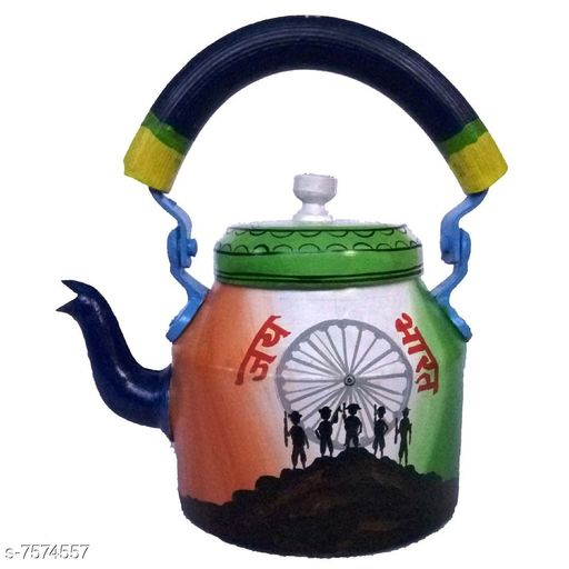 Jars & Containers  Designer Tea Kettle Material: Alluminium Pattern:  Handpainted Pack: Pack of 1 Product Length: 17 cm Product Breadth: 17 cm Product Height: 17 cm  Capacity : 1 L Country of Origin: India Sizes Available: Free Size *Proof of Safe Delivery! Click to know on Safety Standards of Delivery Partners- https://ltl.sh/y_nZrAV3   Catalog Name: Unique Jars CatalogID_1224755 C130-SC1428 Code: 967-7574557-