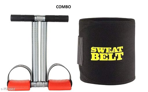 Ab Exerciser with sweat belt
