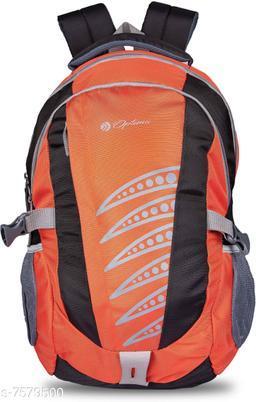 Optima LATEST DESIGNING WATER REPELLENT BACKPACK FOR COLLEGE 31 L Backpack Black| Orange