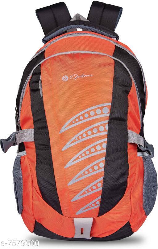 Optima LATEST DESIGNING WATER REPELLENT BACKPACK FOR COLLEGE 31 L Backpack Black  Orange