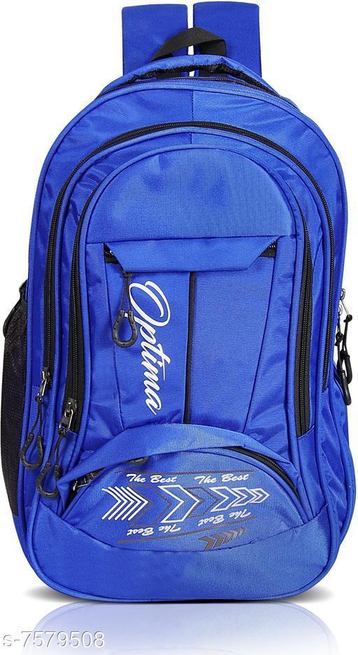 Classy Men's Blue Polyester Backpacks