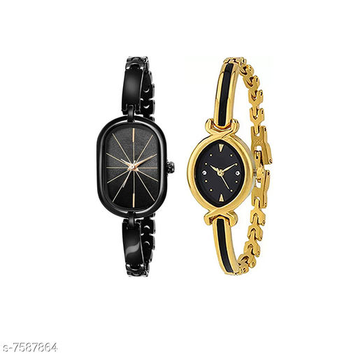 BlackCapsule and BlackOvalMino Stylish Watch for Women