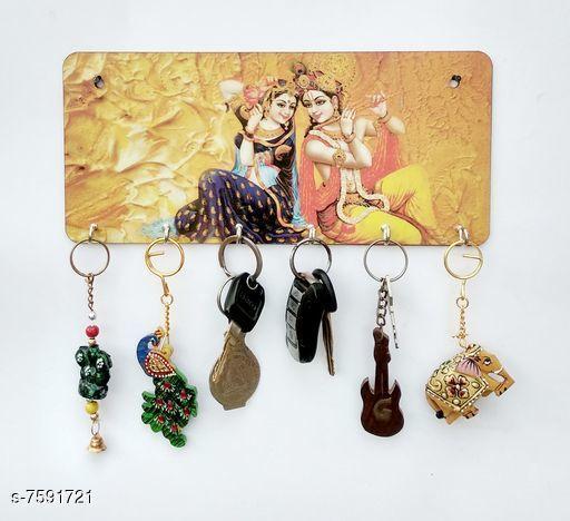 Trendy Wood Keychains Holder