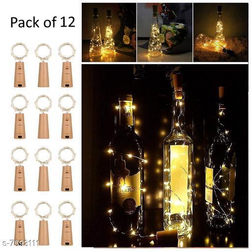 Cork Led String Warm Lights (Pack of 12)