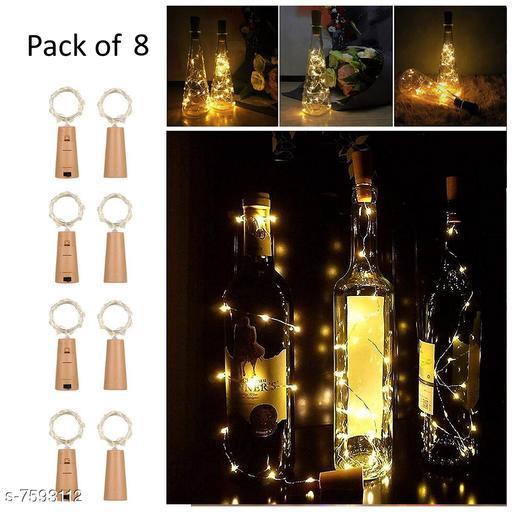 Cork Led String Warm Lights (Pack of 8)