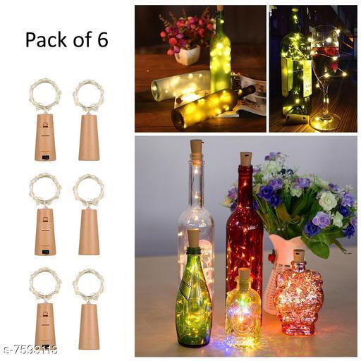 Cork Led String Warm Lights (Pack of 6)