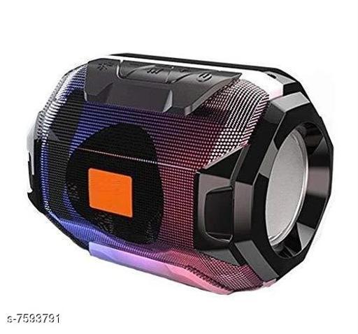 Bluetooth Portable Wireless Speaker HiFi Speaker Light, USB Rechargeable Portable with TWS(Black)