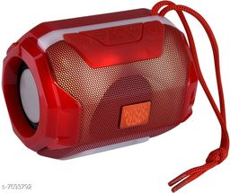 Bluetooth Portable Wireless Speaker HiFi Speaker Light, USB Rechargeable Portable with TWS(Red)