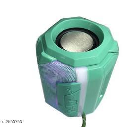 Bluetooth Portable Wireless Speaker HiFi Speaker Light, USB Rechargeable Portable with TWS(Green)
