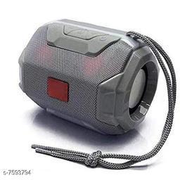 Bluetooth Portable Wireless Speaker HiFi Speaker Light, USB Rechargeable Portable with TWS (Grey)