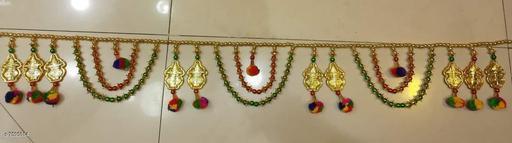 Toran & Wall Hangings TORAN AND HANGINGS  *Material* Handicraft  *Pack* Pack of 1  *Sizes Available* Free Size *    Catalog Name: Fancy Festive Toran CatalogID_1229179 C128-SC1318 Code: 222-7595014-