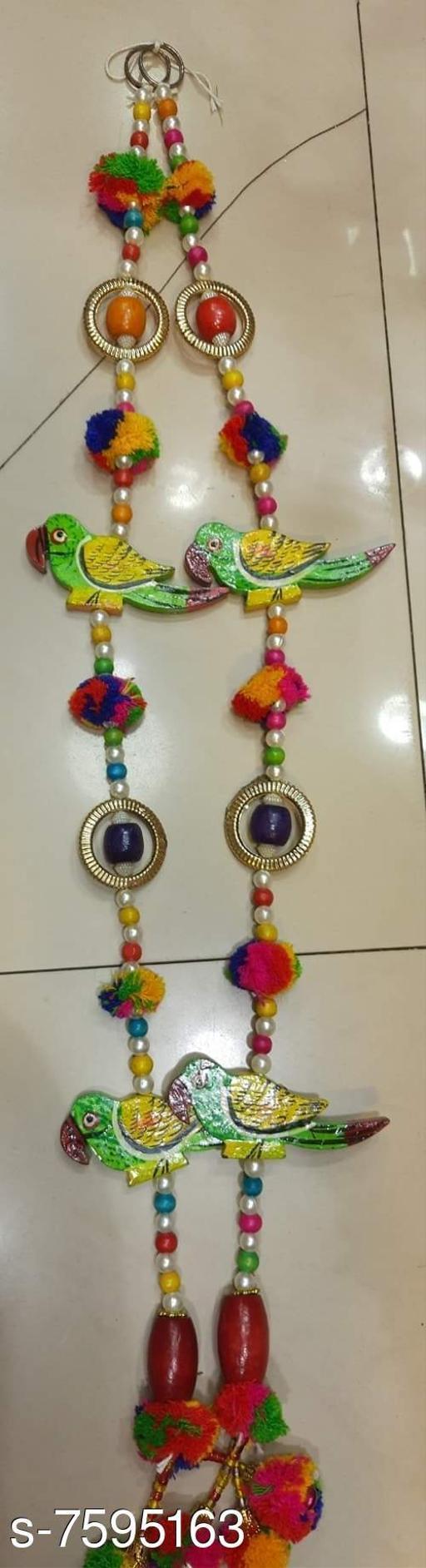 Toran & Wall Hangings TORAN AND HANGINGS  *Material* Handicraft  *Pack* Pack of 2  *Sizes Available* Free Size *    Catalog Name: Fancy Festive Toran CatalogID_1229210 C128-SC1318 Code: 113-7595163-