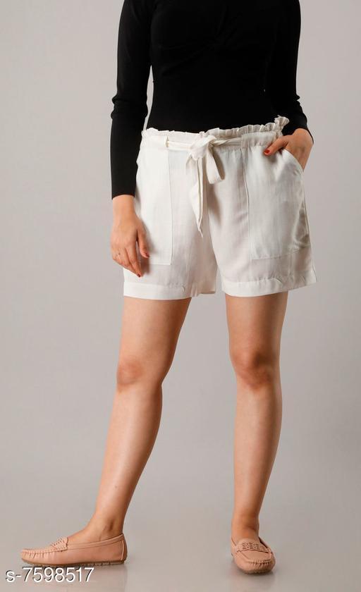 Shorts CUEGAL Womens Cotton Flex Solid Half Pant Gym Shorts, Night Shorts, Basic Shorts, Regular Shorts, Running Shorts, Sports Shorts, Hotpants, Cycling Shorts(White)  *Fabric* Cotton Blend  *Pattern* Solid  *Multipack* 1  *Sizes*   *Free Size (Waist Size* 32 in, Length Size  *Sizes Available* Free Size *   Catalog Rating: ★3.3 (26)  Catalog Name: Designer Fabulous Women Shorts CatalogID_1229930 C79-SC1038 Code: 952-7598517-9951