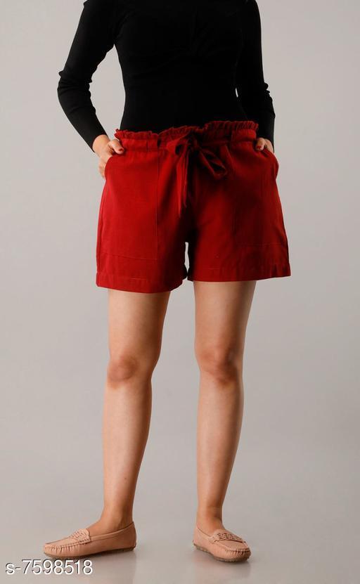 Shorts CUEGALWomens Cotton Flex Solid Half Pant Gym Shorts, Night Shorts, Basic Shorts, Regular Shorts, Running Shorts, Sports Shorts, Hotpants, Cycling Shorts(Maroon)  *Fabric* Cotton Blend  *Pattern* Solid  *Multipack* 1  *Sizes*   *Free Size (Waist Size* 32 in, Length Size  *Sizes Available* Free Size *   Catalog Rating: ★3.3 (26)  Catalog Name: Designer Fabulous Women Shorts CatalogID_1229930 C79-SC1038 Code: 952-7598518-9951