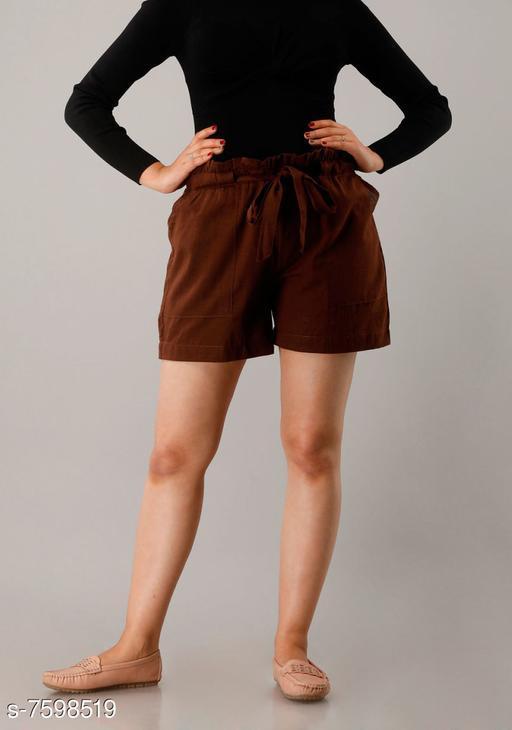 Shorts CUEGAL Womens Cotton Flex Solid Half Pant Gym Shorts, Night Shorts, Basic Shorts, Regular Shorts, Running Shorts, Sports Shorts, Hotpants, Cycling Shorts(Brown)  *Fabric* Cotton Blend  *Pattern* Solid  *Multipack* 1  *Sizes*   *Free Size (Waist Size* 32 in, Length Size  *Sizes Available* Free Size *   Catalog Rating: ★3.3 (26)  Catalog Name: Designer Fabulous Women Shorts CatalogID_1229930 C79-SC1038 Code: 952-7598519-9951