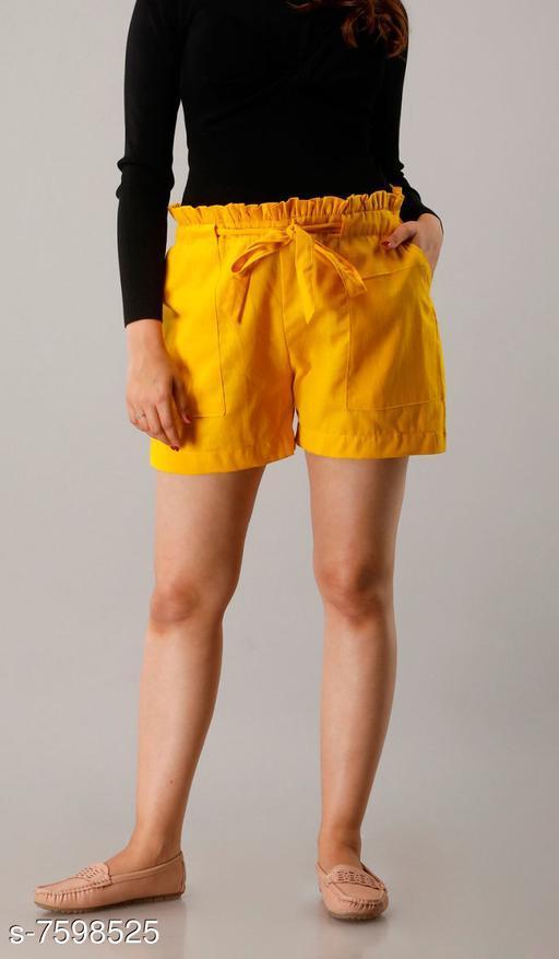 Shorts CUEGAL Womens Cotton Flex Solid Half Pant Gym Shorts, Night Shorts, Basic Shorts, Regular Shorts, Running Shorts, Sports Shorts, Hotpants, Cycling Shorts(Yellow)  *Fabric* Cotton Blend  *Pattern* Solid  *Multipack* 1  *Sizes*   *Free Size (Waist Size* 32 in, Length Size  *Sizes Available* Free Size *   Catalog Rating: ★3.3 (26)  Catalog Name: Designer Fabulous Women Shorts CatalogID_1229930 C79-SC1038 Code: 952-7598525-9951