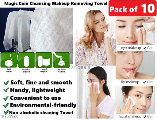 Face Standard Makeup Removing Towel Set ( Pack Of 10 )  *Type* Makeup Removing Towel  *Material* Cotton  *Description* It Has 10 Pack Of Makeup Removing Towel  *Sizes Available* Free Size *    Catalog Name: Useful Essential Makeup Removing Towel Set Vol 1 CatalogID_86546 C51-SC1241 Code: 424-759922-