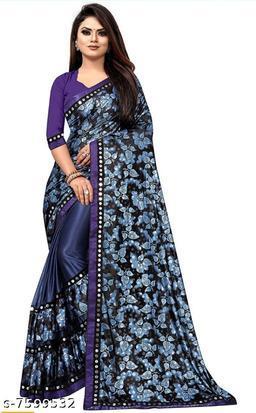 Beautiful Lycra Malai With Design Saree