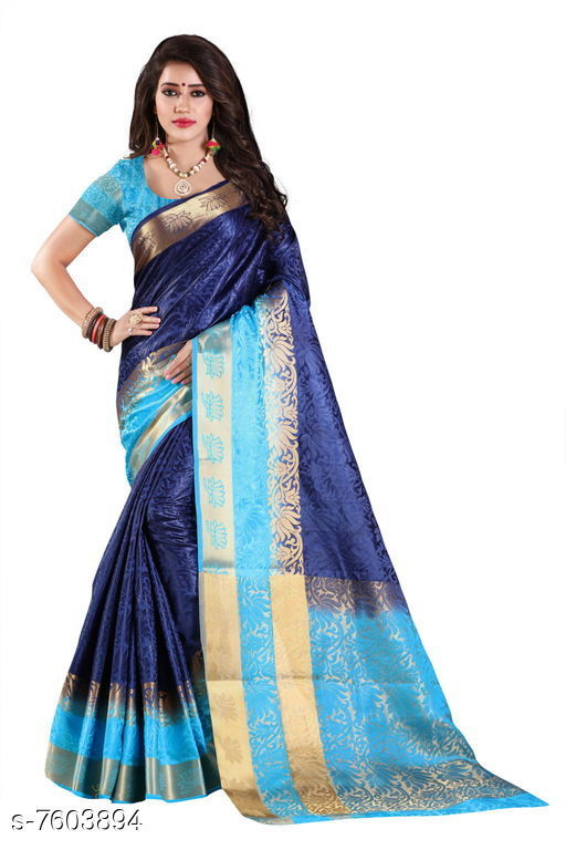 Sarees Fashion Enterprise Present New Women Heavy Fashionable Cotton Saree  *Saree Fabric* Cotton Silk  *Blouse* Running Blouse  *Blouse Fabric* Cotton Silk  *Pattern* Solid  *Blouse Pattern* Same as Saree  *Multipack* Single  *Sizes*   *Free Size (Saree With Blouse Length Size* 6.3 M) Combination of color and fabric gives a rich and unique look. Thanks to our fashion team whose continuous efforts and work give us such a fantastic sarees with the highest standard of color; work; designs; and fabric. Classy and elegant; these Cotton Shopy sarees is made of fabric; our sarees will certainly lend you a graceful look. Featuring an attractive design; our sarees are quite comfort to wear and easy to drape as well.  *Sizes Available* Free Size *   Catalog Rating: ★4.4 (9)  Catalog Name: Aakarsha Pretty Sarees CatalogID_1231109 C74-SC1004 Code: 047-7603894-9992