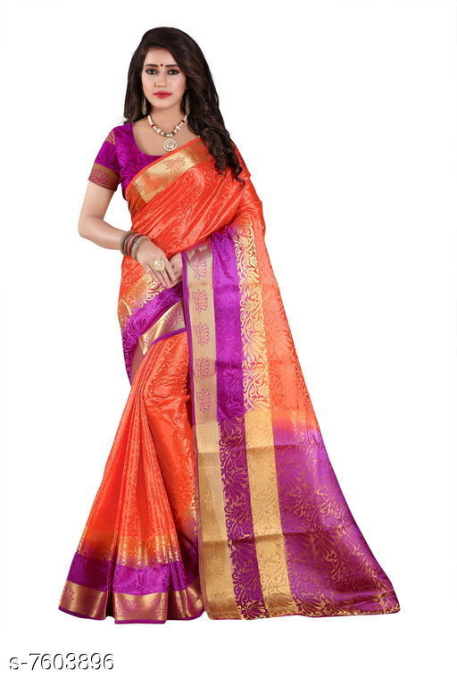 Sarees Fashion Enterprise Present New Women Heavy Fashionable Cotton Saree  *Saree Fabric* Cotton Silk  *Blouse* Running Blouse  *Blouse Fabric* Cotton Silk  *Pattern* Solid  *Blouse Pattern* Same as Saree  *Multipack* Single  *Sizes*   *Free Size (Saree With Blouse Length Size* 6.3 M) Combination of color and fabric gives a rich and unique look. Thanks to our fashion team whose continuous efforts and work give us such a fantastic sarees with the highest standard of color; work; designs; and fabric. Classy and elegant; these Cotton Shopy sarees is made of fabric; our sarees will certainly lend you a graceful look. Featuring an attractive design; our sarees are quite comfort to wear and easy to drape as well.  *Sizes Available* Free Size *   Catalog Rating: ★4.4 (9)  Catalog Name: Aakarsha Pretty Sarees CatalogID_1231109 C74-SC1004 Code: 047-7603896-9992
