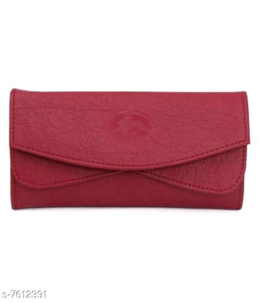 Parth Collection Trendy Maroon Double Fold Purse