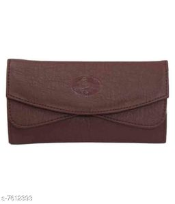 Parth Collection Trendy Brown Double Fold Purse