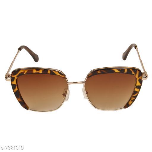LOF Leopard Square Full Rim UV Protected Sunglasses for Women - (LS-00-4-3)