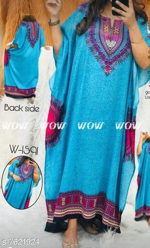 Kaftans  *Product Name* PLUS SIZE NIGHT GOWN KAFTAN  *Product Name* PLUS SIZE NIGHT GOWN KAFTAN  *Fabric* Rayon  *Type* Printed  *Size*   *XL (Bust Size* 42 in, Length Size  *XXL (Bust Size* 44 in, Length Size  *XXXL (Bust Size* 46 in, Length Size  *Dispatch* 2-3 Days  *Sizes Available* XL, XXL, XXXL *   Catalog Rating: ★3.6 (114)  Catalog Name: Kaftan Kurtis CatalogID_1235407 C79-SC1009 Code: 334-7621924-