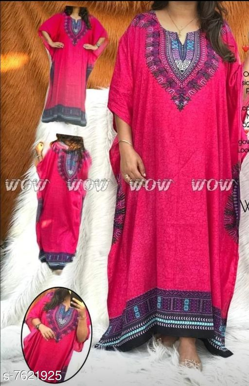 Kaftans  *Product Name* PLUS SIZE NIGHT GOWN KAFTAN  *Product Name* PLUS SIZE NIGHT GOWN KAFTAN  *Fabric* Rayon  *Type* Printed  *Size*   *XL (Bust Size* 42 in, Length Size  *XXL (Bust Size* 44 in, Length Size  *XXXL (Bust Size* 46 in, Length Size  *Dispatch* 2-3 Days  *Sizes Available* XL, XXL, XXXL *   Catalog Rating: ★3.6 (114)  Catalog Name: Kaftan Kurtis CatalogID_1235407 C79-SC1009 Code: 334-7621925-