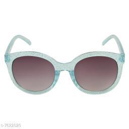 LOF Blue Round Full Rim UV Protected Sunglasses for Girls - (LS-2062-3)