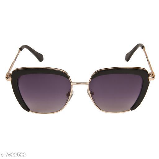 LOF Black Square Full Rim UV Protected Sunglasses for Women - (LS-00-4-1)