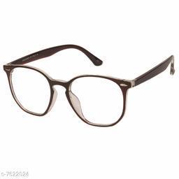LOF Brown Round Full Rim UV Protected Spectacle-Frame for Women - (LF-7002)