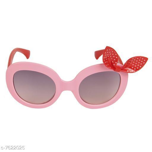 LOF Pink Oval Full Rim UV Protected Sunglasses for Girls - (LS-1510-2)