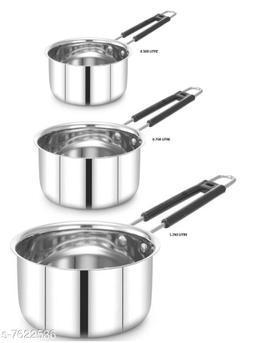 PREMIUM PATTI STAINLESS STEEL SAUCE PAN SET OF 3 PIECE