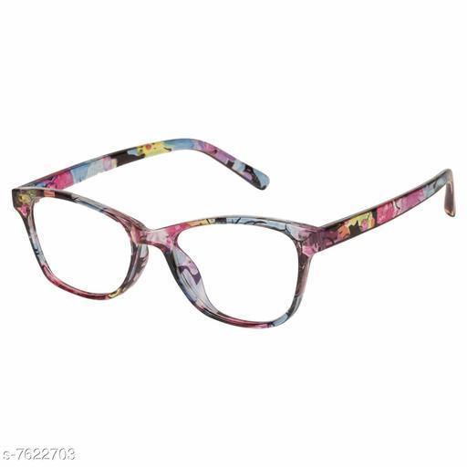 LOF Black Rectangular Full Rim UV Protected Spectacle-Frame for Girls - (LF-5001)