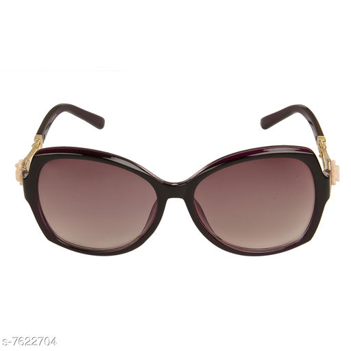 LOF Purple Oval Full Rim UV Protected Sunglasses for Women - (LS-D1511-3)