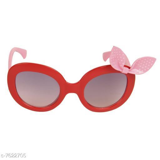 LOF Red Oval Full Rim UV Protected Sunglasses for Girls - (LS-1510-3)