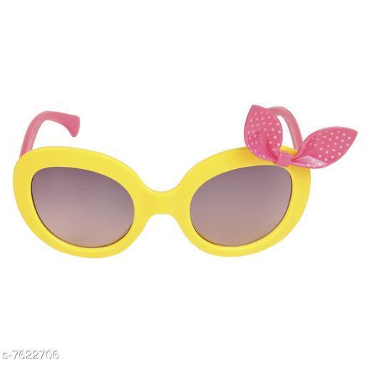 LOF Yellow Oval Full Rim UV Protected Sunglasses for Girls - (LS-1510-6)
