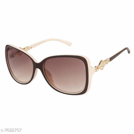 LOF Brown Oval Full Rim UV Protected Sunglasses for Women - (LS-6403)