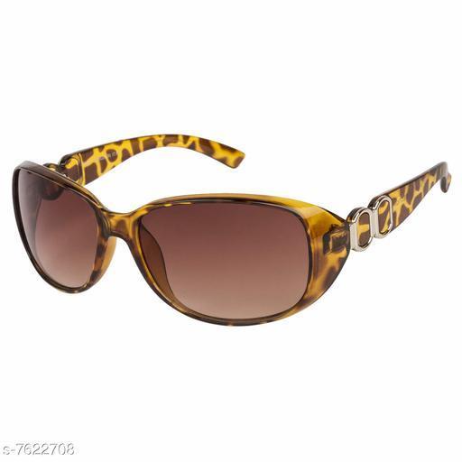 LOF Brown Cat-Eye Full Rim UV Protected Sunglasses for Women  - (LS-6508)