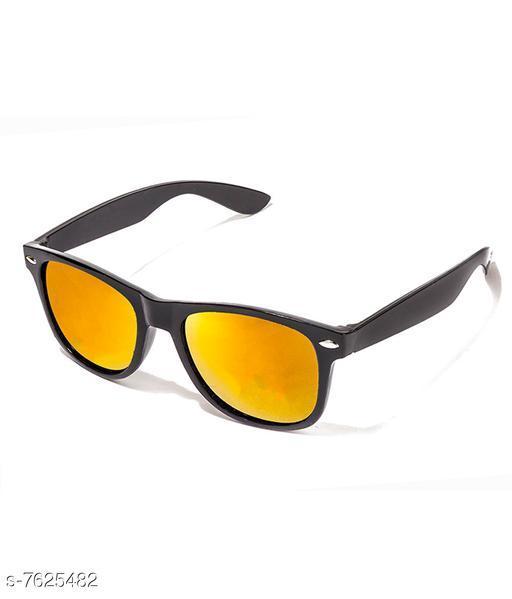 LOF Black Square Full Rim UV Protected Sunglasses for Men - (V-2103)
