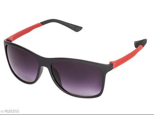LOF Black Square Full Rim UV Protected Sunglasses for Men - (V-3245)