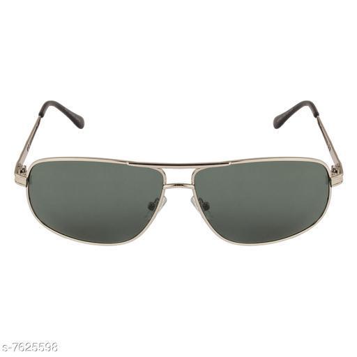 LOF silver Rectangular Full Rim UV Protected Sunglasses for Men - (V-9914)