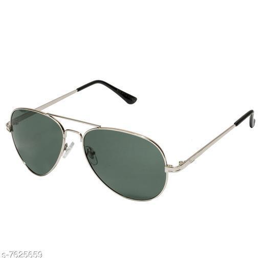 LOF silver Aviator Full Rim UV Protected Sunglasses for Men - (V-9507)