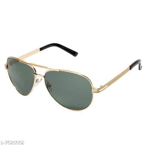 LOF Golden Aviator Full Rim UV Protected Sunglasses for Men - (V-9202)