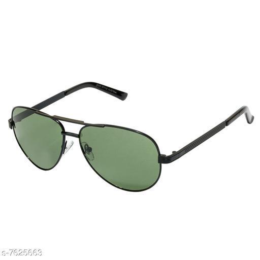 LOF Black Aviator Full Rim UV Protected Sunglasses for Men - (V-9204)