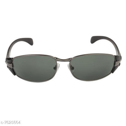 LOF Black Rectangular Full Rim UV Protected Sunglasses for Men - (V-9810)
