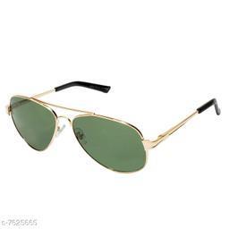 LOF Golden Aviator Full Rim UV Protected Sunglasses for Men - (V-9303)
