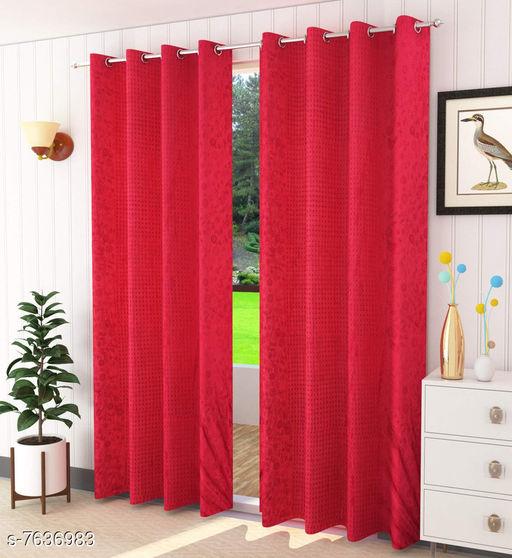 Curtains & Sheers Trendy Curtains    *Material* Polyester  *Length* Window  *Multipack* 1  *Sizes* 5 Feet (Length Size  *Sizes Available* 5 Feet *    Catalog Name: Trendy Curtains   CatalogID_1238778 C54-SC1116 Code: 764-7636983-